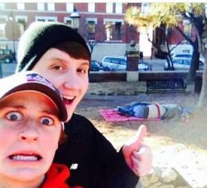 Selfie con senzatetto