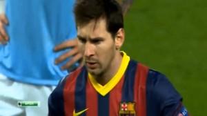 Champions League: Messi segna uno straordinario rigore al Manchester City (Video)