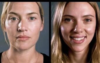 Brad Pitt e Scarlett Johansson senza trucco: anche le stars di Hollywood sono belle al naturale