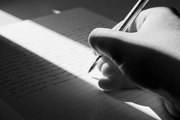 scrivere lettera a mano