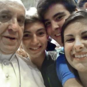 selfie di Papa Francesco