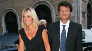 Alessandra Mussolini e il marito