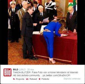 Fake Ministro Boschi Bild