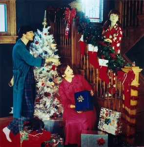 Suzanne Heitz a Natale con famiglia