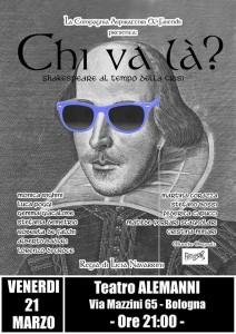 Shakespeare spettacolo Bologna 2014
