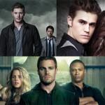 le tre serie di CW Vampire-Supernatural-Arrows