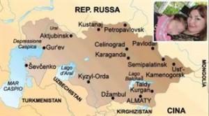 Kazakistan cartina