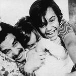 Lo scrittore Gabriel García Márquez ritratto con la sua famiglia