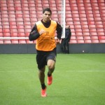 Luis Suarez in training