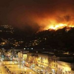 Valparaiso in Cile incendio