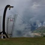 crollo della croce a Cevo Brescia
