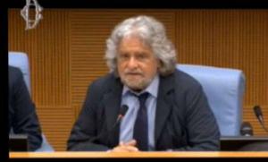 Movimento 5 stelle conferenza stampa Grillo