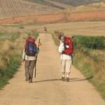 pellegrini in cammino per santiago paesaggio