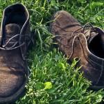 scarpe sul prato