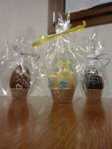 tre uova di pasqua cioccolato diverso