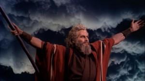 Charlton Heston in I Dieci Comandamenti