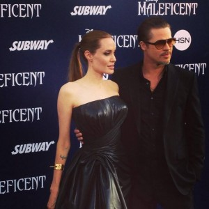 Pitt e angelina red carpet Maleficent