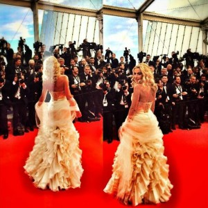Valeria Marini red carpet Cannes