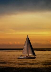 barca a vela sera