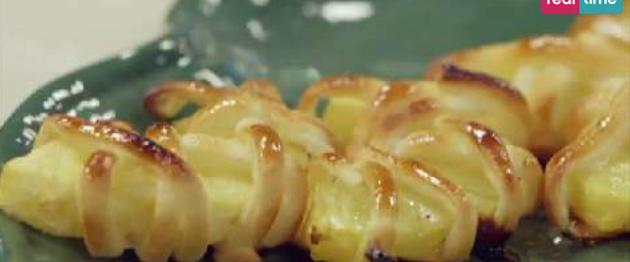 Ricette estive le mezze lune di ananas con crema al for Ricette di cucina estive