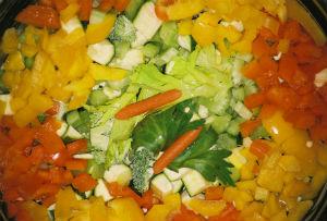 piatto verdure colorate