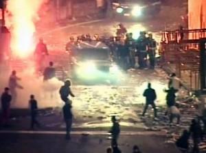 scontri a Catania in cui perse la vita l'ispettore Raciti