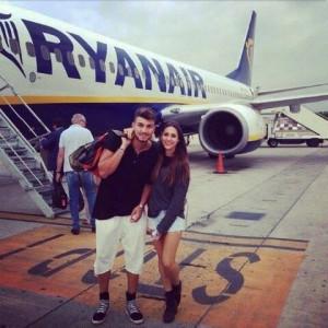 Beatrice e Marco aereo viaggio