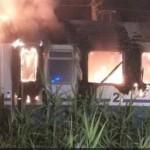Incendio Intercity Napoli - Sestri L.