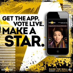 app Rising star programma
