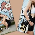 Outfit glam rock di Chiara Ferragni