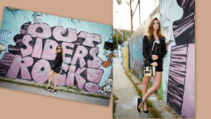 outfit urban glam rock by Chiara Ferragni