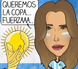 Belen Rodriguez su Instagram mostra la sua delusione per la sconfitta dell'Argentina