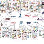 Infografica cibo controllato da 10 multinazionali