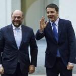 Martin Schulz e Matteo Renzi al Parlamento europeo