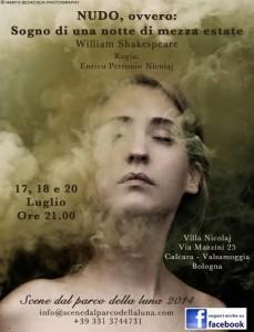 locandina spettacolo Shakespeare Bologna