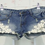 shorts con inserti pizzo tutorial