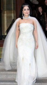 lady gaga abito bianco