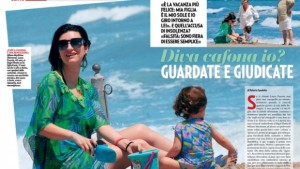 prima vacanza in famiglia per Laura Pausini