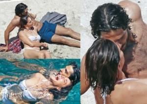 Marco Bocci bacia Claudia Gerini a pochi giorni dalle nozze con Laura Chiatti
