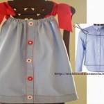 moda riciclo, creare un prendisole da una camicia