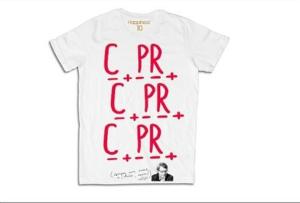 magliette Scarpellini Sgarbi con scritto Capra