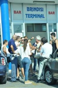 Brindisi terminal turisti rimangono a terra per guasto nave