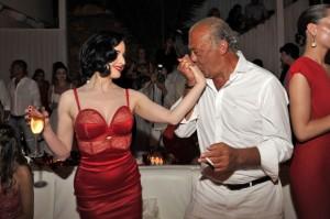 Fawaz Gruosi festa al Billionaire di Briatore
