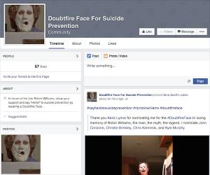 robin williams prevenire suicidio doubtfireface