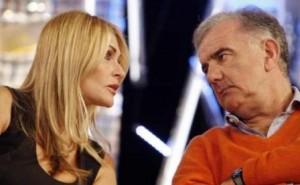 Gene Gnocchi e Paola Ferrari fuori dalla Domenica Sportiva