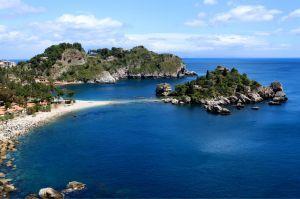 Isola bella spiaggia vicino Taormina