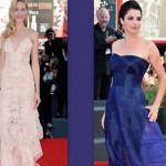 Madrine Mostra Cinema di Venezia 2013 e 2014 a confronto look
