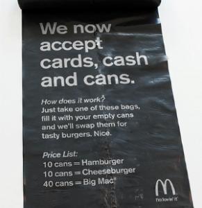 pagare lattine mcdonald svezia