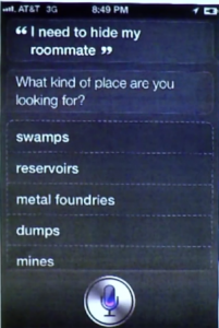nasconde cadavere con siri iphone