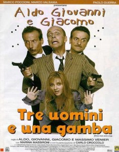 Tre uomini e una gamba su Canale5